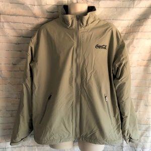 Lands End Polartec Aircore 200 Tan Fleece Jacket
